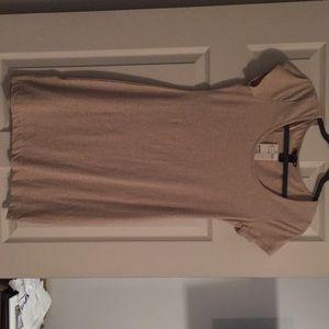 Short tan H & M dress